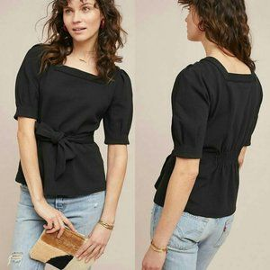 Anthropologie Current Air Puff sleeved top